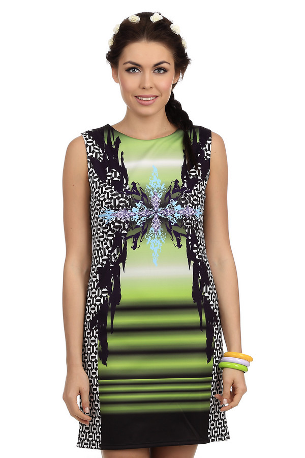 Платье Just ValeriПлатья<br>Летнее платье от бренда Just Valeri выполнен из невероятно легкого материала яркой расцветки. Модель застегивается на скрытую почти не заметную глазу молнию. Платье сочетает в себе несколько принтов, которые делают его неповторимым. Прямой крой будет прекрасно смотреться на любой фигуре. За счёт бокового рисунка фигура визуально будет выглядеть стройнее. Его можно надеть как на свидание, так и на встречу с подругами.<br><br>Размер RU: 42<br>Пол: Женский<br>Возраст: Взрослый<br>Материал: полиэстер 100%<br>Цвет: Разноцветный
