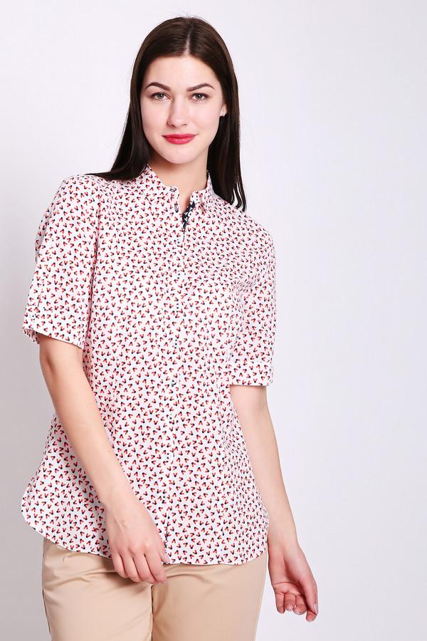Блузa Gerry WeberБлузы<br>Блуза женская розового цвета фирмы Gerry Weber. Модель выполнена прямым фасоном. Изделие дополнено откладным воротом на стойке, застежка на пуговицы, втачными, короткими рукавами. Ткань имеет принт. Состав ткани: 100% хлопок. Гармонировать можно с различными брюками, юбками.