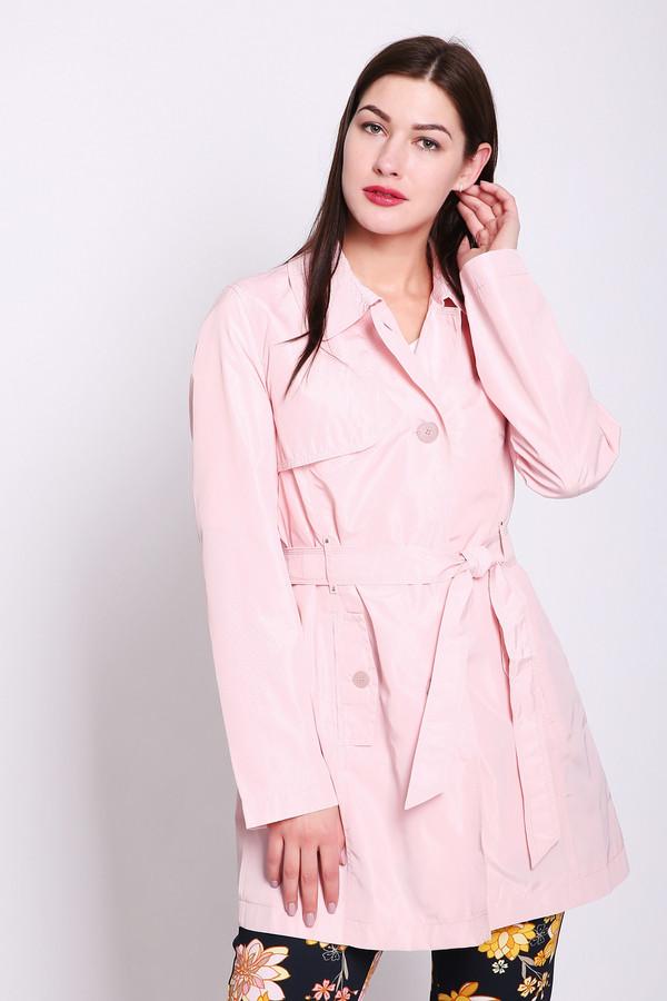 Плащ Betty BarclayПлащи<br>Плащ женский розового цвета фирмы Betty Barclay. Модель выполнена прямым фасоном. Изделие дополнено откладным воротом, застежка на пуговицы, карманами с клапанами на пуговицу, шлевками для ремня, втачными, длинными рукавами, тканевым ремнем на узел. Ткань состоит из 100% полиэстера. Подкладка - 100% полиэстер. Гармонировать можно с различными деталями вашего гардероба.
