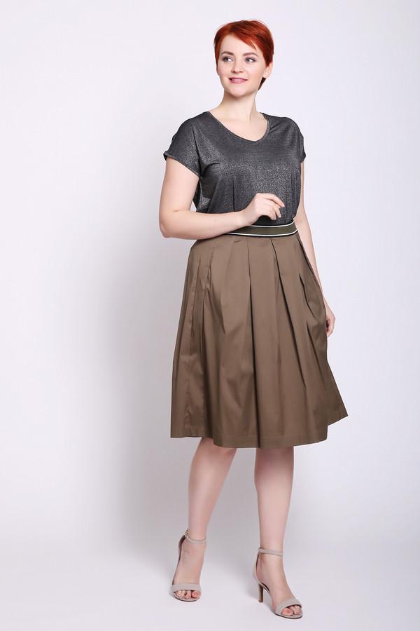женская юбка taifun, зеленая