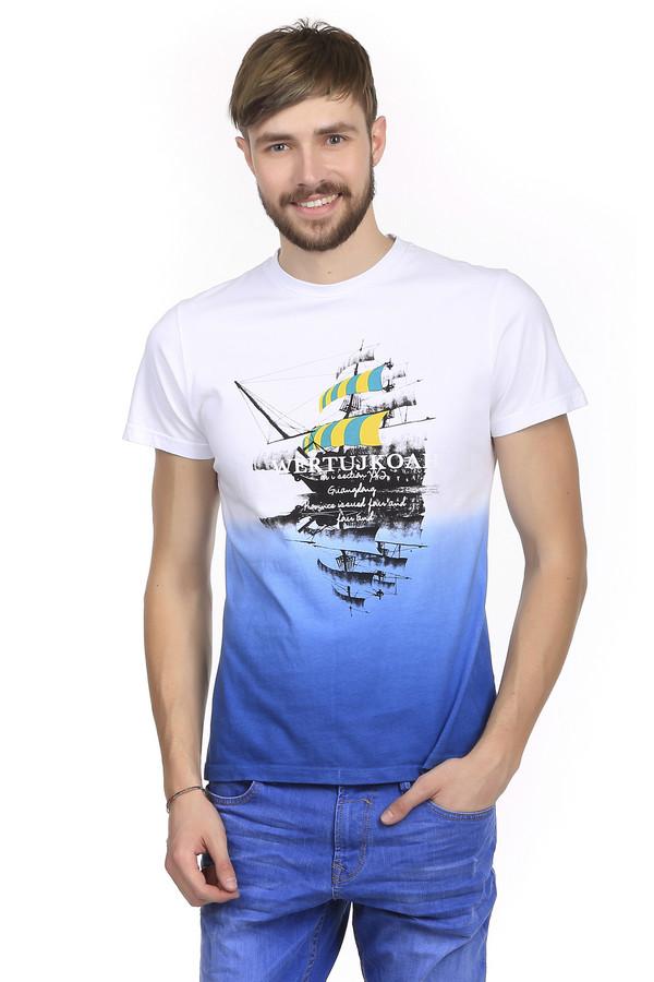 Футболкa PezzoФутболки<br>Мужская футболка от бренда Pezzo прилегающего кроя выполнена из дышащего натурального хлопка. Изделие дополнено: круглым воротом и короткими рукавами. Футболка оформлена эффектом градиент бело-синего цвета и декорирована стильным принтом. Эта удобная и практичная вещь, в которой можно заниматься спортом и носить в повседневной жизни. Прекрасно смотрится как с джинсами и шортами, так же и с спортивными брюками.<br><br>Размер RU: 52<br>Пол: Мужской<br>Возраст: Взрослый<br>Материал: хлопок 100%<br>Цвет: Разноцветный
