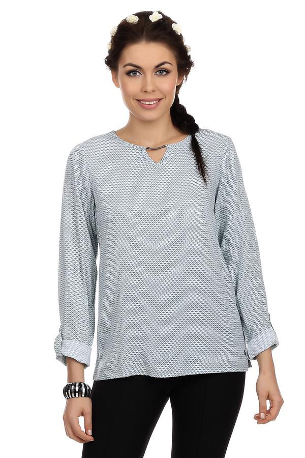 Блузa LerrosБлузы<br>Блуза для женщин от бренда Lerros. Это блуза светло-голубого цвета, со неординарным орнаментом. У данной модели круглый вырез и длинный рукав, который можно подстегнуть пуговицей. Эта блуза пошита из 100% вискозы.<br><br>Размер RU: 44<br>Пол: Женский<br>Возраст: Взрослый<br>Материал: вискоза 100%<br>Цвет: Разноцветный