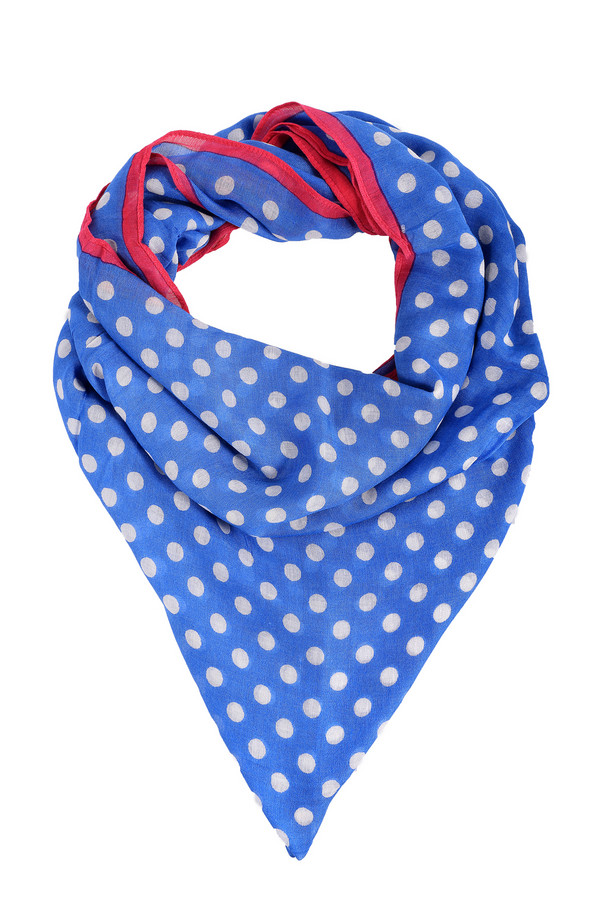 Шарф PezzoШарфы<br>Стильный женский шарф от бренда Pezzo. Это шарф голубого цвета, в белый горошек, с красной линией по краю. Этот шарф изготовлен из 100% вискозы. Шарф легкий, приятный на ощупь и идеально дополнит любой образ.<br><br>Размер RU: один размер<br>Пол: Женский<br>Возраст: Взрослый<br>Материал: вискоза 100%<br>Цвет: Разноцветный