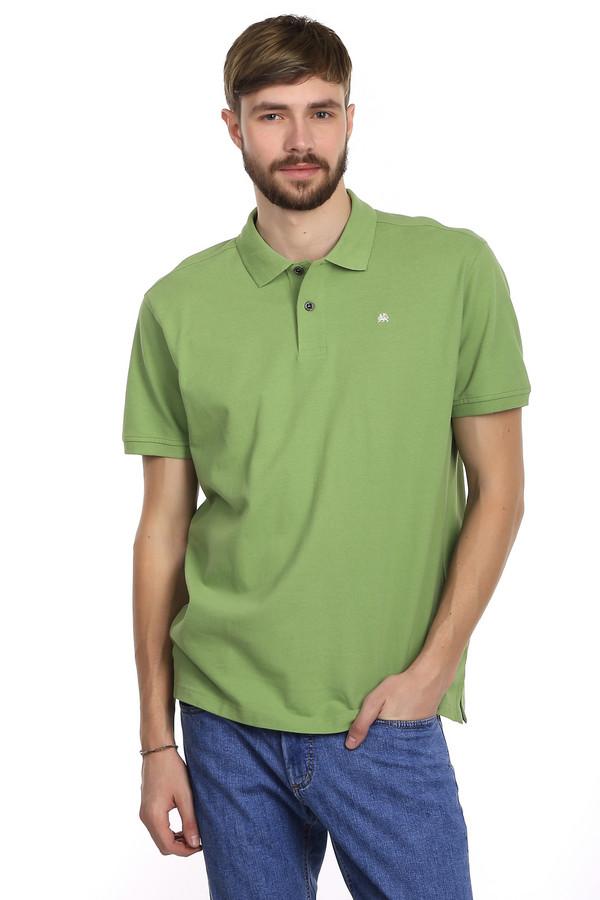 Поло LerrosПоло<br>Зеленое однотонное поло от бренда Lerros прямого кроя выполненный из дышащего и приятного к телу хлопкового материала. Изделие дополнено: отложным воротником с планкой на пуговицах и короткими рукавами до середины плеча. Поло декорировано небольшой вышивкой на груди с символикой бренда. Идеально подходит для сочетания с   пиджаками   и   кардиганами  . Хорошо будет смотреться с   джинсами   и   шортами  .<br><br>Размер RU: 44-46<br>Пол: Мужской<br>Возраст: Взрослый<br>Материал: хлопок 100%<br>Цвет: Зелёный
