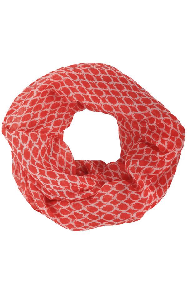 Шарф CommaШарфы<br>Легкий женский шарф-хомут от бренда Comma. Это шарф красного цвета, с белым орнаментом. Он изготовлен из 100% полиэстера. Такой шарф может стать отличным дополнением не только к повседневным образам, но и к офисному.<br><br>Размер RU: один размер<br>Пол: Женский<br>Возраст: Взрослый<br>Материал: полиэстер 100%<br>Цвет: Белый