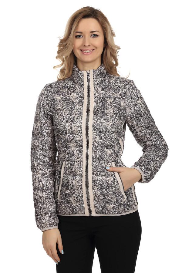 Куртка Tom TailorКуртки<br>Модная куртка для женщин от бренда Tom Tailor. Это куртка пошитая из 100% полиэстера, и выполненная в светло-бежевых тонах со змеиным принтом. Это короткая, дутая, стеганная куртка с воротником-стойкой, на застежке-молнии, дополненная двумя боковыми карманами.<br><br>Размер RU: 40-42<br>Пол: Женский<br>Возраст: Взрослый<br>Материал: полиэстер 100%<br>Цвет: Разноцветный