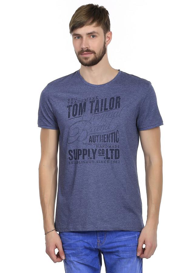 Футболкa Tom TailorФутболки<br>Мужская футболка от немецкого бренда Tom Tailor выполнена в темно-синем цвете. Это футболка классического свободного покроя. Изделие дополнено: круглым вырезом и короткими рукавами до середины плеча. На футболке напечатан оригинальный принт черного цвета с названием бренда. Футболка приятная на ощупь, очень удобная и практичная.<br><br>Размер RU: 48-50<br>Пол: Мужской<br>Возраст: Взрослый<br>Материал: хлопок 60%, полиэстер 40%<br>Цвет: Разноцветный