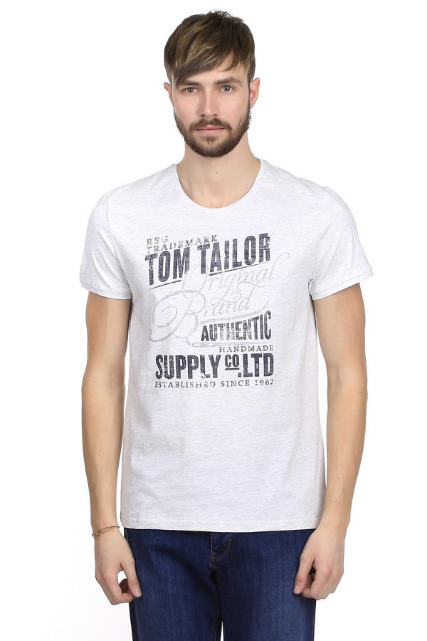 Футболкa Tom TailorФутболки<br>Мужская футболка от немецкого бренда Tom Tailor выполнена в белом цвете. Это футболка классического свободного покроя. Изделие дополнено: круглым вырезом и короткими рукавами до середины плеча. На футболке напечатан оригинальный принт черного цвета с названием бренда. Футболка приятная на ощупь, очень удобная и практичная.<br><br>Размер RU: 44-46<br>Пол: Мужской<br>Возраст: Взрослый<br>Материал: хлопок 100%<br>Цвет: Чёрный
