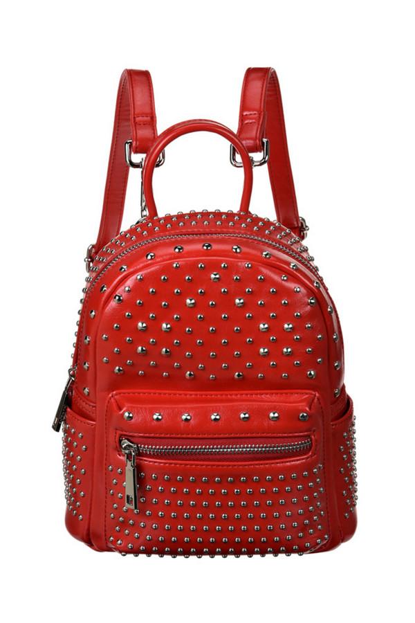 женский рюкзак vera victoria vito, красный