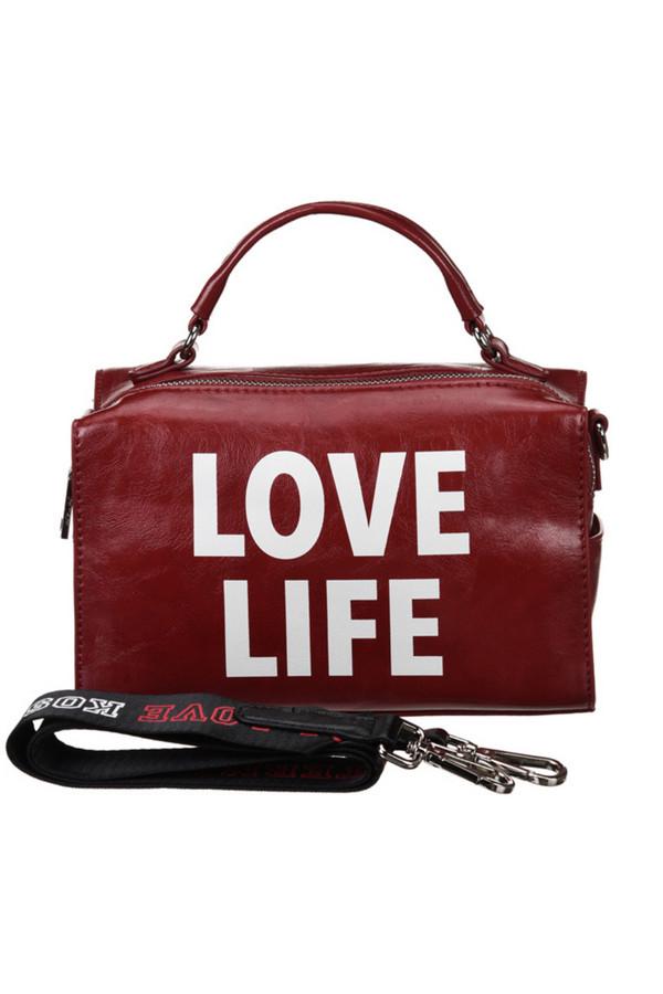 женская сумка vera victoria vito, красная