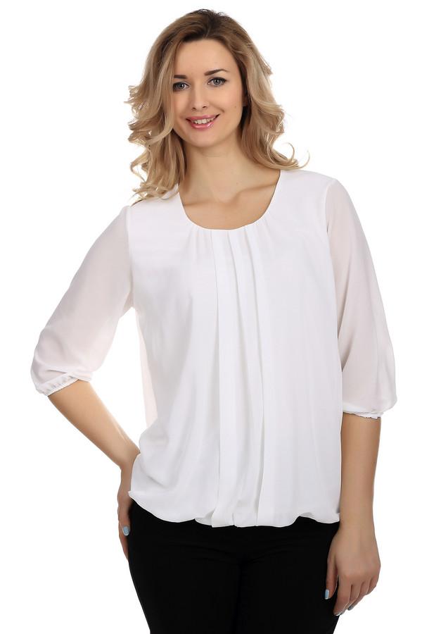 Блузa LebekБлузы<br>Очень стильная и элегантная, полупрозрачная блуза Lebek белого цвета. Блуза выполнена в свободном покрое и выглядит очень эффектно. Она удачно скрывает лишние килограммы и очень хорошо сочетается с как с  джинсами , так и с  классическими брюками -дудочками. Конечно же лучше всего она смотрится в качестве элемента офисного гардероба. Еще один плюс этой блузы в том, что под нее легко подобрать туфли.<br><br>Размер RU: 44<br>Пол: Женский<br>Возраст: Взрослый<br>Материал: полиэстер 100%<br>Цвет: Белый