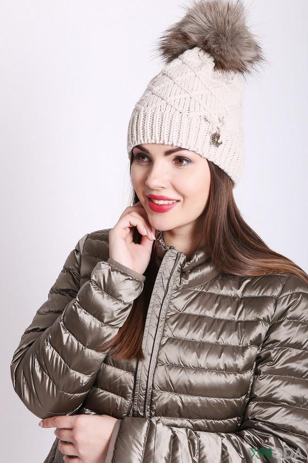 женская шапка wegener, бежевая