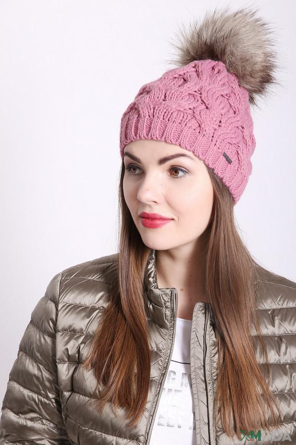 женская шапка wegener, розовая