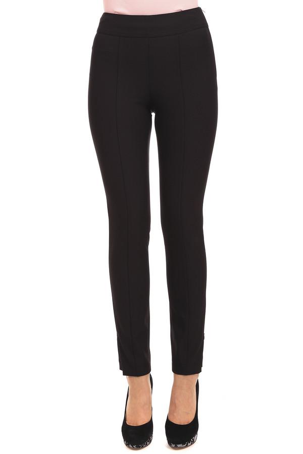 Брюки CambioБрюки<br>Черные слегка укороченные брюки от бренда Cambio. Изделие дополнено: скрытой застежкой-молния сбоку, стрелками и разрезами на молнии внизу. Брюки выполнены из стрейчевого материала. Идеально будут смотреться с удлиненными  блузами .<br><br>Размер RU: 44<br>Пол: Женский<br>Возраст: Взрослый<br>Материал: эластан 10%, полиамид 90%<br>Цвет: Чёрный
