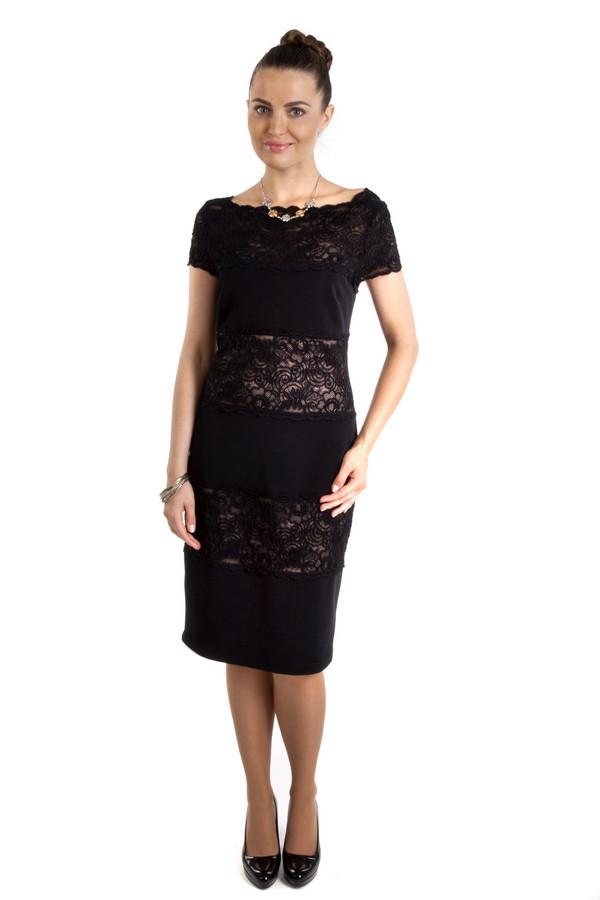 Вечернее платье Joseph RibkoffВечерние платья<br>Очень элегантное черное платье-футляр Joseph Ribkoff с декольте лодочка, которое покажет красивые ключицы. Длина рукава до середины плеча, а само платье слегка прикрывает колени, поэтому подходит и молодым стильным девушкам и зрелым женщинам. Кроме того, в платье есть кружевные вставки, которые сделают ваш образ пикантным и подчеркнут стройность фигуры.<br><br>Размер RU: 42<br>Пол: Женский<br>Возраст: Взрослый<br>Материал: полиамид 92%, спандекс 8%<br>Цвет: Чёрный