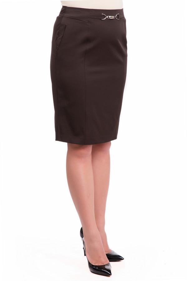 Юбка Just ValeriЮбки<br>Коричневая юбка Just Valeri итальянской длины прямого кроя. Изделие дополнено: шлицем и скрытой застежкой-молния на спинке. Юбка на талии декорирована позолоченной фурнитурой.<br><br>Размер RU: 42<br>Пол: Женский<br>Возраст: Взрослый<br>Материал: спандекс 6%, нейлон 94%<br>Цвет: Коричневый