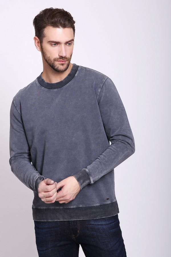 Футболкa PezzoФутболки<br>Футболка мужская серого цвета фирмы Pezzo. Модель выполнена прямым фасоном. Изделие дополнено округлым воротом, втачными, длинными рукавами. Ткань состоит из 97% хлопка, 3% спандекса. Комбинировать можно с различными брюками.