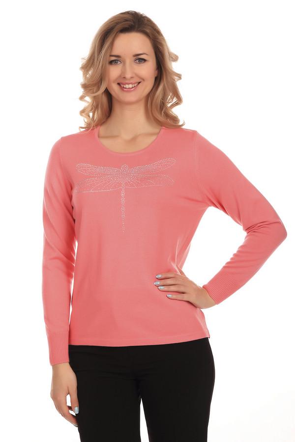 Пуловер Rabe collectionПуловеры<br>Стильный женский пуловер фирмы Rabe collection. Это пуловер кораллового цвета, с круглым вырезом, длинным рукавом, дополненный стрекозой из серебристых страз на груди. В состав материала входят: модал, полиакрил и полиамид.<br><br>Размер RU: 48<br>Пол: Женский<br>Возраст: Взрослый<br>Материал: полиамид 15%, полиакрил 40%, модал 45%<br>Цвет: Оранжевый