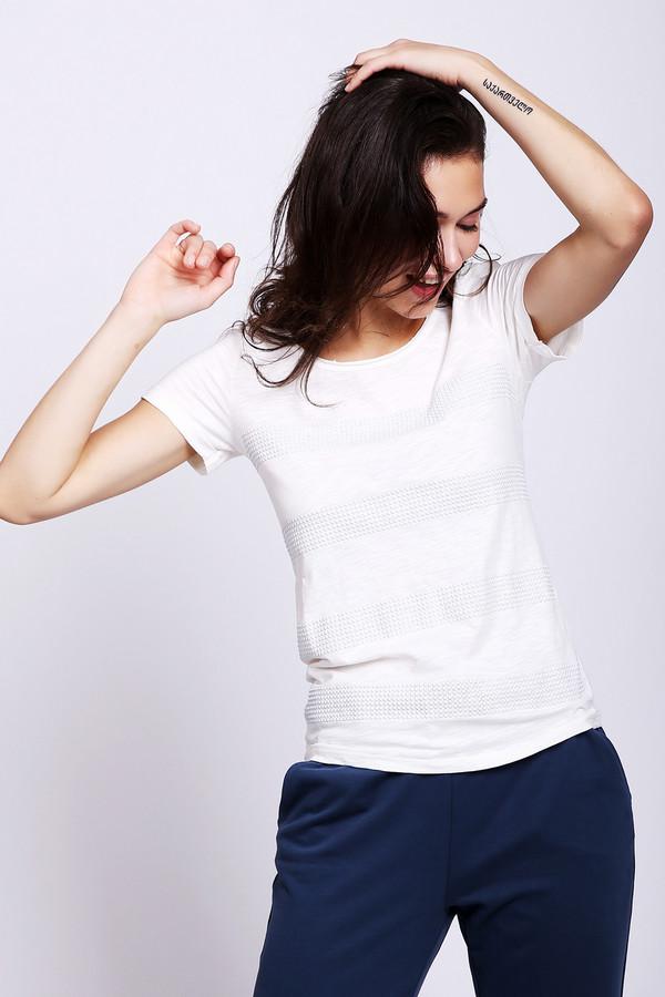 женская футболка с круглым вырезом lerros, белая