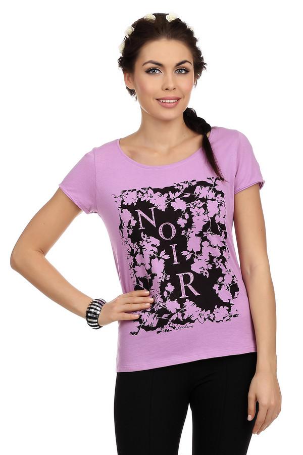 Футболка LerrosФутболки<br>Футболка розового цвета от бренда Lerros для женщин. Данная футболка сшита из 100% хлопка по классическому крою с круглым вырезом и коротким рукавом. Изделие дополнено графичным цветочным принтом черного цвета с надписью, которая декорирована небольшими серебристыми стразами.<br><br>Размер RU: 48<br>Пол: Женский<br>Возраст: Взрослый<br>Материал: хлопок 100%<br>Цвет: Чёрный