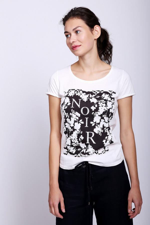 женская футболка с круглым вырезом lerros, черная