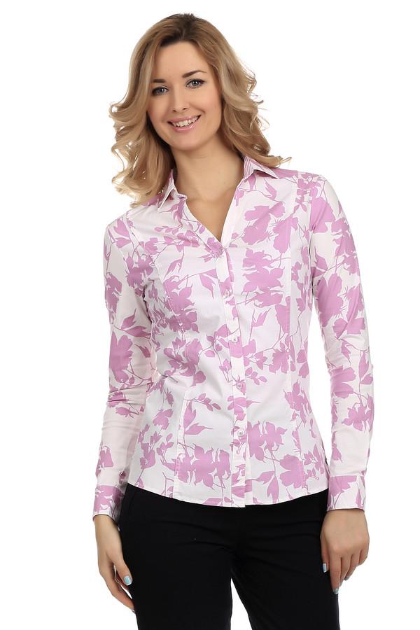 Рубашка с длинным рукавом LerrosДлинный рукав<br>Стильная женская рубашка от фирмы Lerros. Это рубашка белого цвета с растительным принтом, выполненным в розовом цвете. Она сшита по классическому покрою с отложным воротником и длинным рукавом. Материал — смесь хлопка и полиамида с добавлением эластана.<br><br>Размер RU: 44<br>Пол: Женский<br>Возраст: Взрослый<br>Материал: эластан 4%, полиамид 27%, хлопок 69%<br>Цвет: Розовый