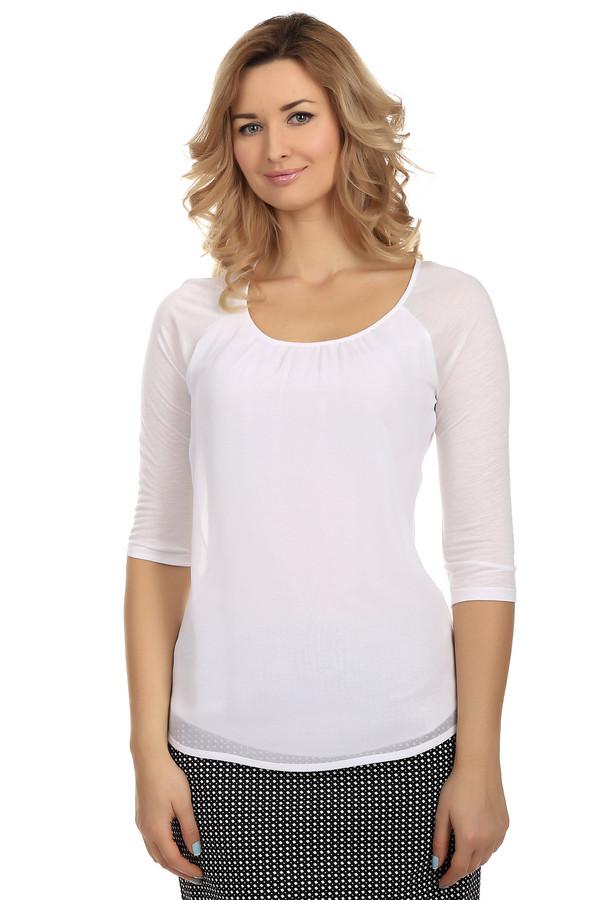 Блузa MonariБлузы<br>Летняя однотонная блузa от бренда Monari представлена в белом цвете. Изделие дополнено: u-образным вырезом, удлинённой спинкой и рукавами-реглан 3/4. Блуза очень легкая и удобная. Полу-прозрачные рукава отличаются по тону от самой блузы добавляя образу легкость.<br><br>Размер RU: 44<br>Пол: Женский<br>Возраст: Взрослый<br>Материал: полиэстер 50%, вискоза 50%<br>Цвет: Белый