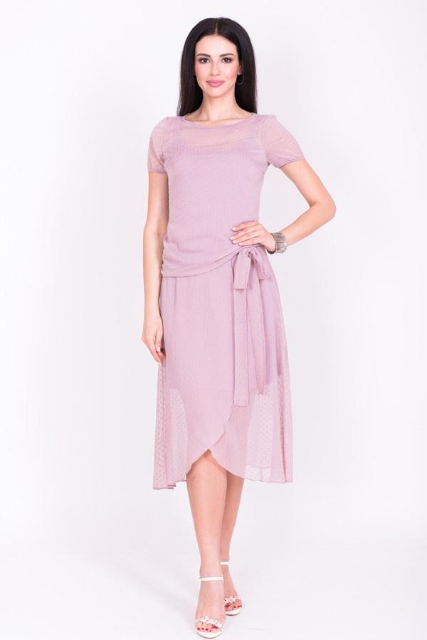 Фото 2 - Женскую блузку Argent розового цвета