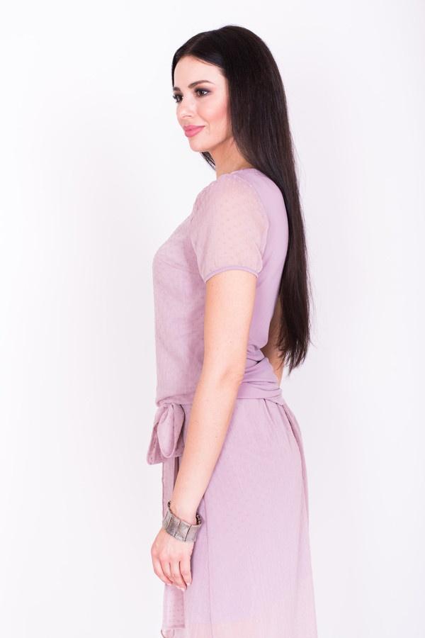 Фото 3 - Женскую блузку Argent розового цвета