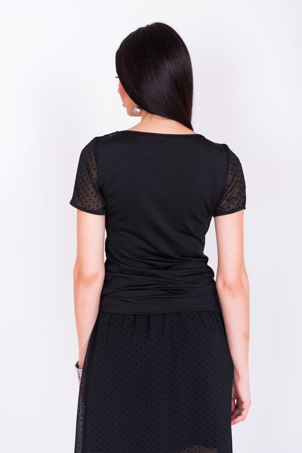 Фото 4 - Женскую блузку Argent черного цвета