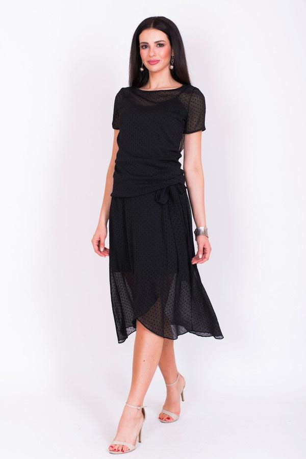 Фото 2 - Женскую блузку Argent черного цвета