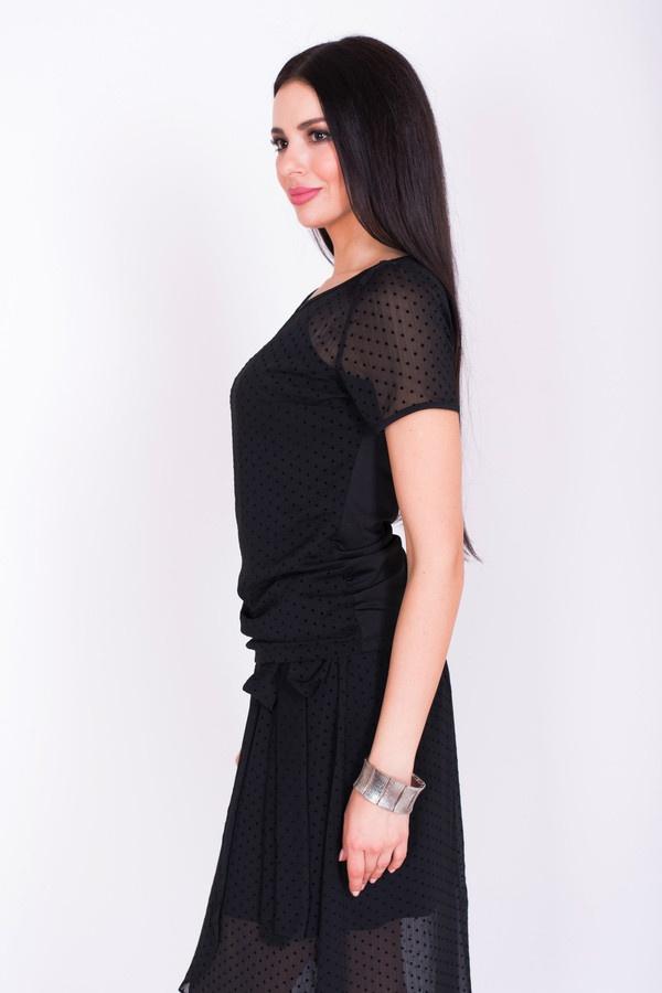 Фото 3 - Женскую блузку Argent черного цвета