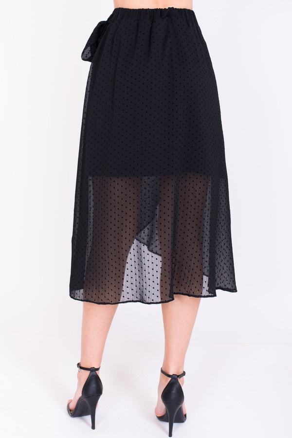 Фото 3 - Женскую юбку Argent черного цвета