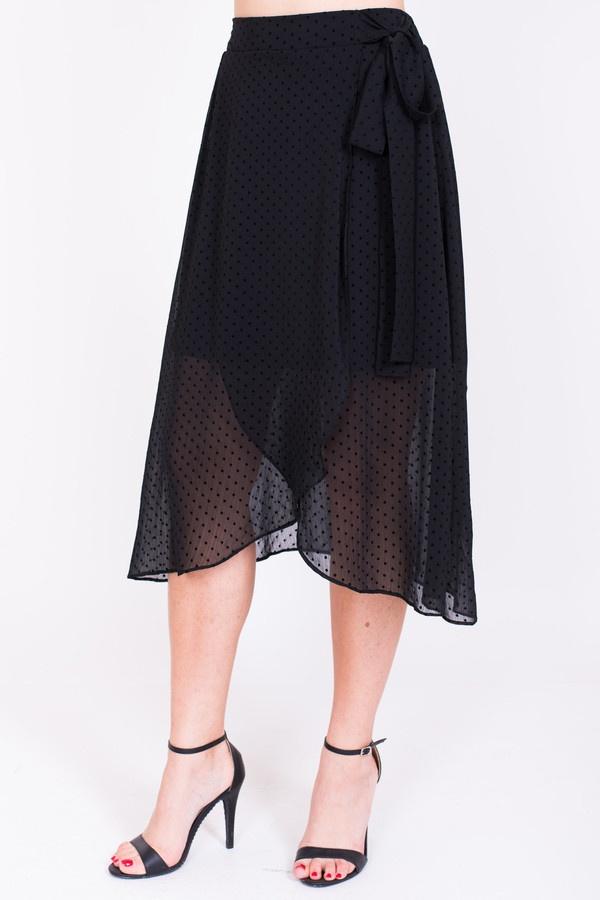 Фото 2 - Женскую юбку Argent черного цвета