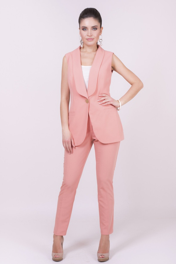 Фото 2 - Женские брюки Argent розового цвета