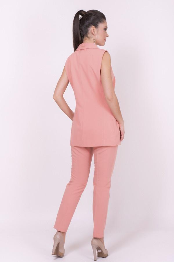 Фото 3 - Женские брюки Argent розового цвета