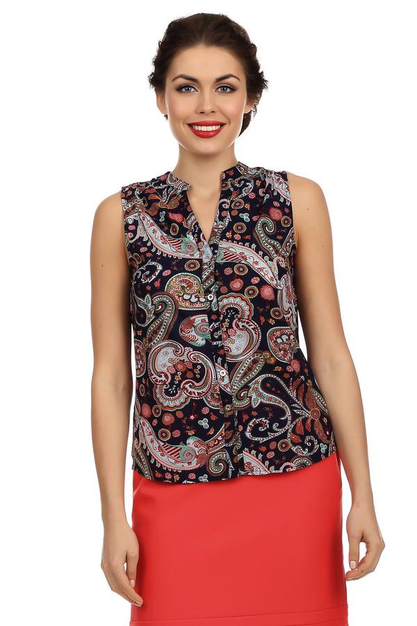 Блузa LocustБлузы<br>Очень яркая и стильная блуза-безрукавка Locust. Яркий и неповторимый принт с уникальными орнаментами моментально обратит на вас взгляды окружающих. Блуза сделана из легкой летящей ткани, а потому очень удобная и в ней вам не будет жарко летом. Она очень нежная и приятная на ощупь. Не смотря на яркость, она отлично вписывается в офисный лук и поможет вам быть самой яркой личностью в вашем коллективе.<br><br>Размер RU: 40-42<br>Пол: Женский<br>Возраст: Взрослый<br>Материал: полиэстер 100%<br>Цвет: Разноцветный