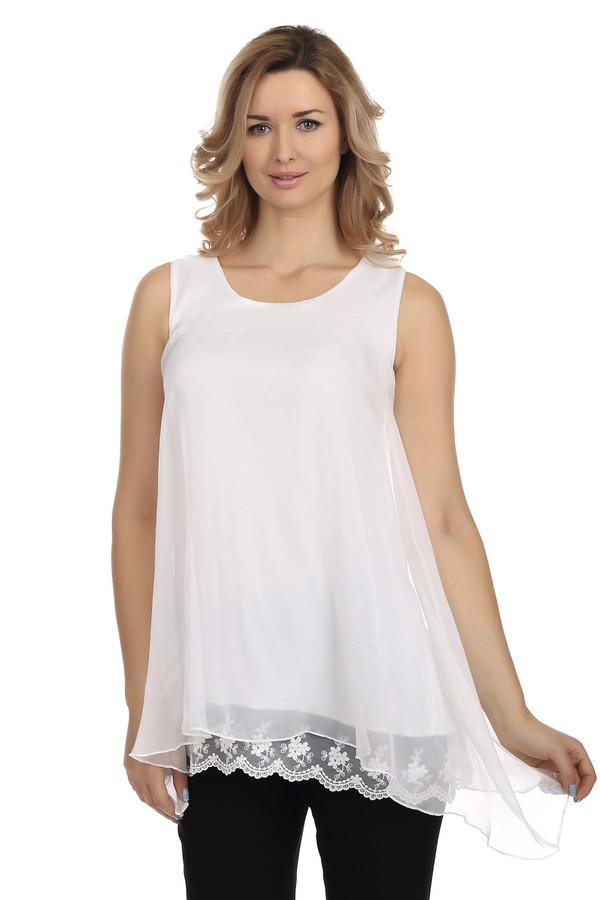 Блузa LocustБлузы<br>Летняя легкая блуза Locust свободного кроя выполнена из приятного на ощупь материала белоснежного цвета. Изделие дополнено: круглым вырезом и удлиненной спинкой. Воздушная многослойная полупрозрачная ткань с кружевными элементами – в такой блузе вы сможете себя почувствовать по-настоящему женственной и прекрасной. Это отличный вариант для жаркого дня.<br><br>Размер RU: 40-42<br>Пол: Женский<br>Возраст: Взрослый<br>Материал: полиэстер 100%<br>Цвет: Белый