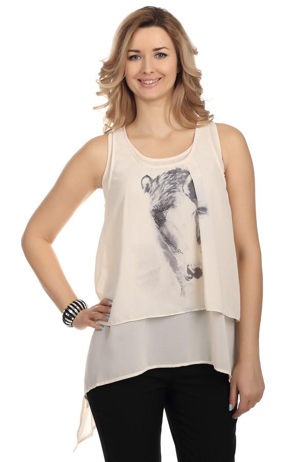 Блузa LocustБлузы<br>Легкая и элегантная блуза Locust. Блуза украшена необычным принтом с узором из страз. Цвет блузы кремовый, а покрой самый необычный из всех, что вы видели. Летящая ткань, нежный цвет - в такой блузе вы сможете себя почувствовать по-настоящему женственной и прекрасной. Это отличный вариант для жаркого летнего дня. Она будет уместна как в офисе, так и на романтическом свидании.<br><br>Размер RU: 48-50<br>Пол: Женский<br>Возраст: Взрослый<br>Материал: полиэстер 100%<br>Цвет: Разноцветный