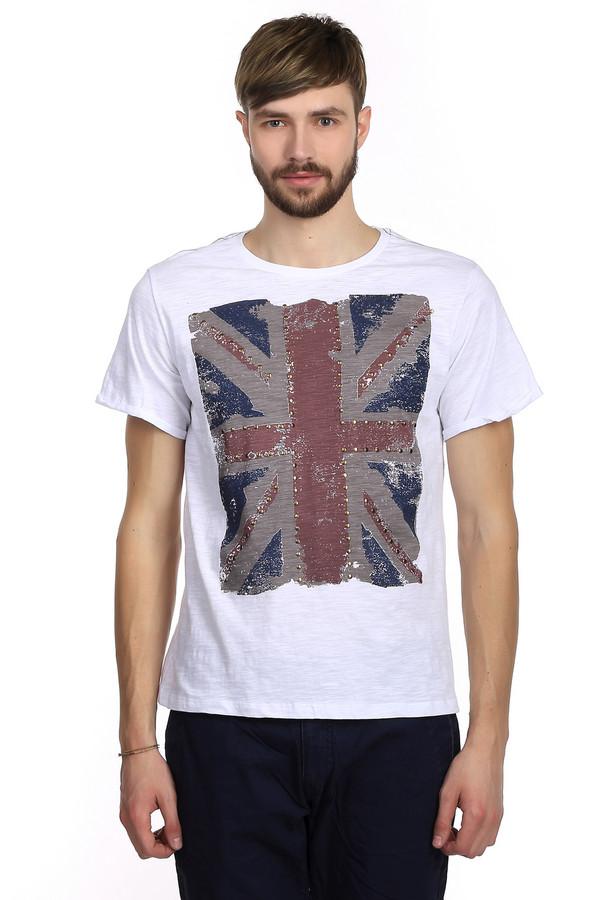 Футболкa LocustФутболки<br>Мужская футболка от бренда Locust прямого кроя выполнена из дышащего хлопка белого цвета. Изделие дополнено: круглым воротом и короткими рукавами. Футболка декорирована принтом с флагом Великобритании с эффектом потертости, украшенным золотистой фурнитурой. На плечах есть вышивка синей и красной нитью. Идеальный вариант для повседневного использования в теплый период, хорошо сочетается с шортами и с джинсами.<br><br>Размер RU: 56<br>Пол: Мужской<br>Возраст: Взрослый<br>Материал: хлопок 100%<br>Цвет: Разноцветный