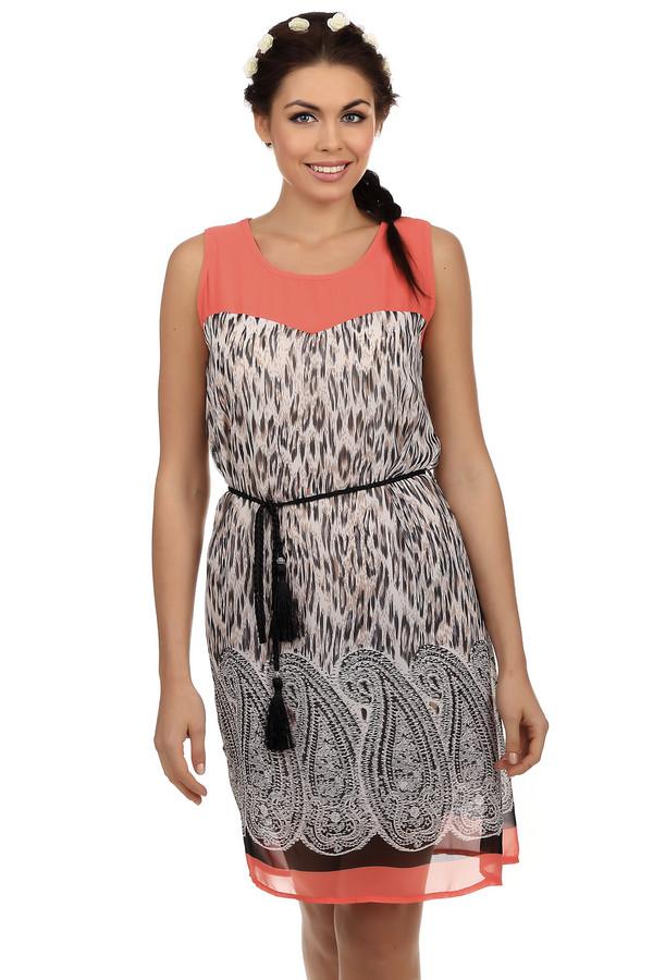 Платье LocustПлатья<br>Очень стильное платье Locust. Такое платье - это мечта для самых заядлых модниц, потому что декольте платья и его низ оформлены модным коралловым цветом а само платье украшено не выходящим из моды звериным принтом, а так же турецкими огурцами. Сверху платье довольно свободное, поэтому это мечта даже для пышных девушек. Так же в комплекте с платьем, в качестве аксессуара, идет стильный пояс-жгут черного цвета.<br><br>Размер RU: 40-42<br>Пол: Женский<br>Возраст: Взрослый<br>Материал: полиэстер 100%<br>Цвет: Разноцветный
