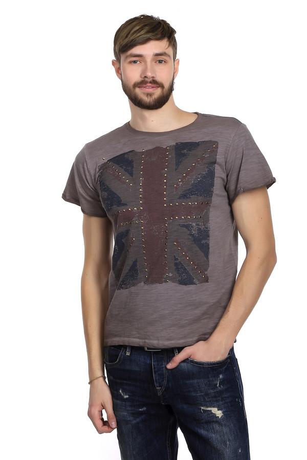 Футболкa LocustФутболки<br>Мужская футболка от бренда Locust прямого кроя выполнена из дышащего хлопка темно-серого цвета. Изделие дополнено: круглым воротом и короткими рукавами. Футболка декорирована принтом с флагом Великобритании с эффектом потертости, украшенным золотистой фурнитурой. На плечах есть вышивка синей и красной нитью. Идеальный вариант для повседневного использования в теплый период, хорошо сочетается с шортами и с джинсами.<br><br>Размер RU: 56<br>Пол: Мужской<br>Возраст: Взрослый<br>Материал: хлопок 100%<br>Цвет: Разноцветный