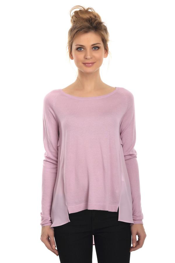 Пуловер s.OliverПуловеры<br>Нежный пуловер известной торговой марки s.Oliver представлен в светло-розовом цвете. Изделие дополнено длинным рукавом на узкой резинке и U-образным вырезом украшенным сзади пуговицей с эмблемой фирмы. Перед, рукава и спинка до середины изготовлены из хлопка с добавлением полиамида и удачно скомбинированы с легкой полупрозрачной вискозой.<br><br>Размер RU: 40<br>Пол: Женский<br>Возраст: Взрослый<br>Материал: полиамид 20%, вискоза 60%, хлопок 20%<br>Цвет: Розовый