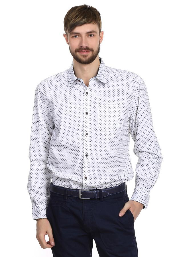 Рубашка с длинным рукавом s.OliverДлинный рукав<br>Рубашка для мужчин от бренда s.Oliver. Эта рубашка с длинным рукавом, классического покроя, с нагрудным карманом и плотным отложным воротником. Она сшита материала, который на 100% состоит из хлопка. Представленная рубашка белого цвета с мелкими ромбовидными орнаментами и коричневыми пуговицами. Такая рубашка выглядит намного более стильно, нежели классическая белая, но выглядит при этом не менее солидно.<br><br>Размер RU: 52-54<br>Пол: Мужской<br>Возраст: Взрослый<br>Материал: хлопок 100%<br>Цвет: Разноцветный