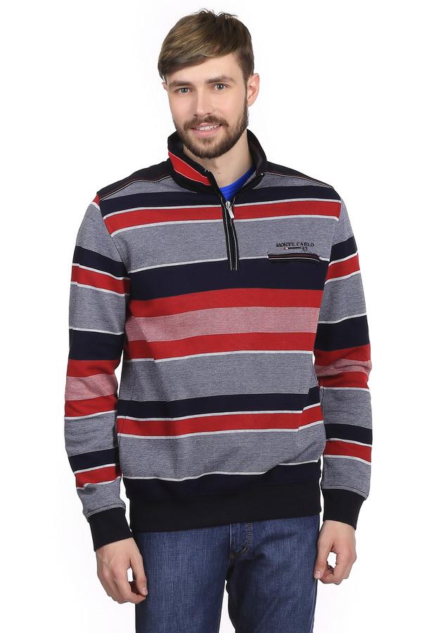 Джемпер Monte CarloДжемперы<br>Стильный мужской джемпер бренда Monte Carlo. Это джемпер серого цвета, в красную, белую и синюю полоски. Изделие дополнено воротником-стойкой на молнии, нагрудным карманом на молнии, а также резинками на рукава и снизу джемпера. Джемпер пошит из 100% хлопка.<br><br>Размер RU: 50-52<br>Пол: Мужской<br>Возраст: Взрослый<br>Материал: хлопок 100%<br>Цвет: Разноцветный