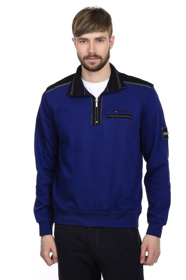 Джемпер Monte CarloДжемперы<br>Модный пуловер от бренда Monte Carlo для мужчин. Это пуловер синего цвета, дополненный черными вставками на плечах и черным воротником-кадетом на молнии. Изделие дополнено нагрудным карманом и пошито из 100% хлопка.<br><br>Размер RU: 54-56<br>Пол: Мужской<br>Возраст: Взрослый<br>Материал: хлопок 100%<br>Цвет: Разноцветный