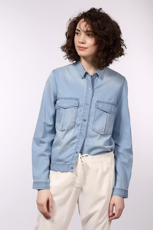 Рубашка с длинным рукавом s.Oliver DENIMДлинный рукав<br>Женская джинсовая рубашка-жакет от фирмы s.Oliver. Рубашка выполнена в светло-голубом цвете, с эффектом потертости. Она застегивается на металлические пуговицы, и дополнена двумя большими накладными нагрудными карманами на пуговицах. У данной модели длинный рукав и узкий отложной воротник. Материал — 100% хлопок.<br><br>Размер RU: 40-42<br>Пол: Женский<br>Возраст: Взрослый<br>Материал: хлопок 100%<br>Цвет: Голубой