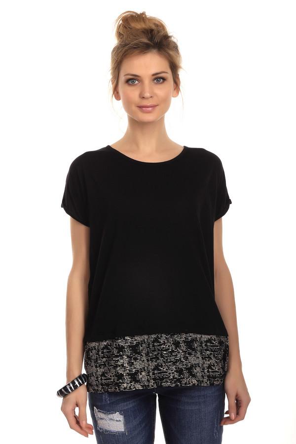 Футболка s.Oliver DENIMФутболки<br>Женская футболка от бренда s.Oliver. Это футболка свободного кроя с коротким рукавом и круглым вырезом. Футболка представлена в черном цвете и дополнена низом а абстрактным принтом, выполненным в бежевом цвете. Она сшита из смеси хлопка и полиэстера.<br><br>Размер RU: 38-40<br>Пол: Женский<br>Возраст: Взрослый<br>Материал: полиэстер 48%, хлопок 52%<br>Цвет: Белый