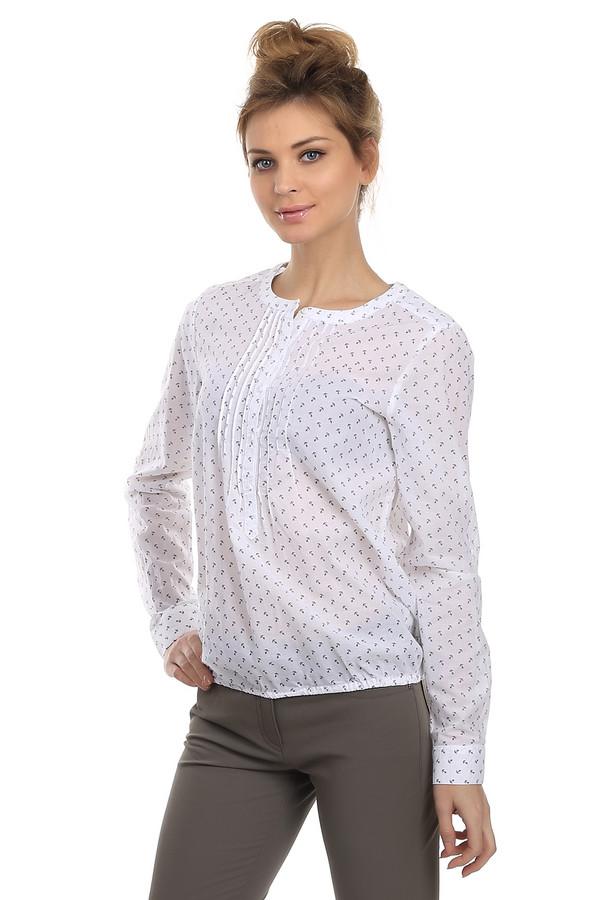 Блузa LerrosБлузы<br>Модная блуза для женщин. Это блуза от бренда Lerros. Данная модель выполнена в белом цвете и украшена принтом маленьких якорей. Изделие дополнено круглым вырезом и длинным рукавом. Материал - 100% хлопок.<br><br>Размер RU: 46<br>Пол: Женский<br>Возраст: Взрослый<br>Материал: хлопок 100%<br>Цвет: Синий