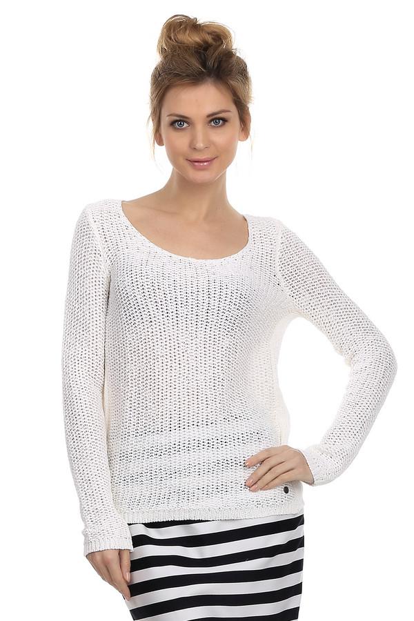 Пуловер LerrosПуловеры<br>Легкий женский пуловер от бреда Lerros, крупной вязки. Представлен в белом цвете. Данная модель дополнена глубоким U-образным вырезом, боковыми вставками из лицевой вязки и длинным рукавом с отделкой резинка. Внизу пуловер декорирован пуговицей с эмблемой бренда, а также резинкой. Состав изделия - хлопок с добавлением полиэстера.<br><br>Размер RU: 44<br>Пол: Женский<br>Возраст: Взрослый<br>Материал: полиэстер 25%, хлопок 75%<br>Цвет: Белый
